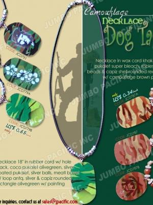 Dog Tag Capiz Pendant
