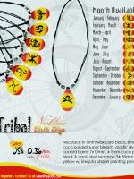 Zodiac Colored Capiz Pendant