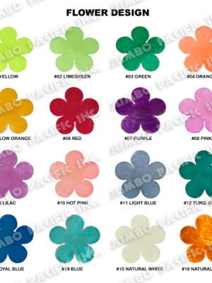 Capiz Colored Flowers Shape