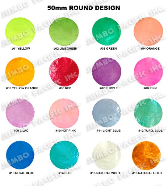 Capiz Colored Round Shape