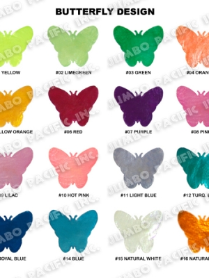 Capiz Colored Butterfly Shape