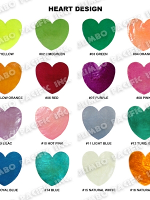 Capiz Colored Heart Shape