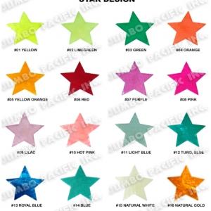 Capiz Colored Stars Shape