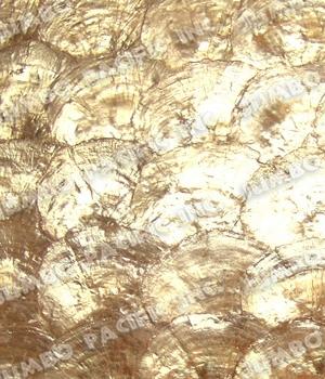 Capiz Gold Half Moon Scallop Design