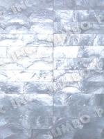 Natural White 1x8 inch Halfmoon Rectangle Design