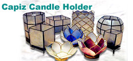 Capiz Candle Holder