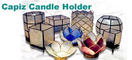Capiz Candle Holder