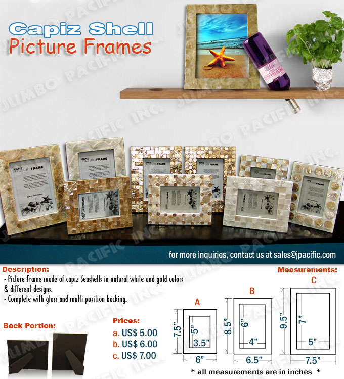 Capiz Picture Frames Wholesale Philippine Capiz Shells Home Decors
