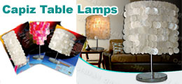 Capiz Table Lamps