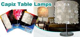 Capiz Table Lamps