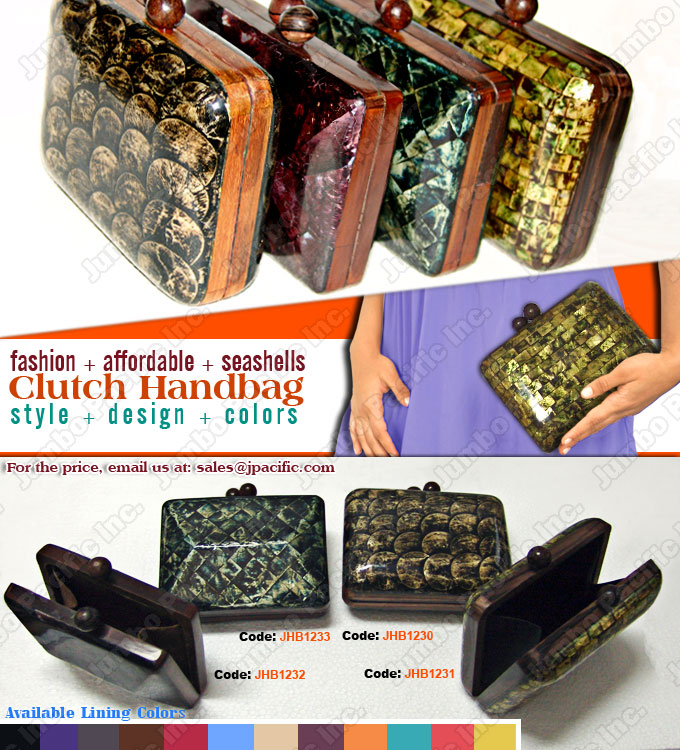 Capiz Handbags, Clutch Bags, Shell Handbags, Shell Bags Wholesale,