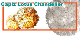 Hanging Capiz Decoration,Capiz Lotus Chandelier