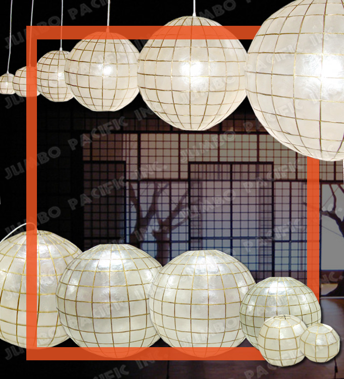 Capiz Globe Chandelier Lantern